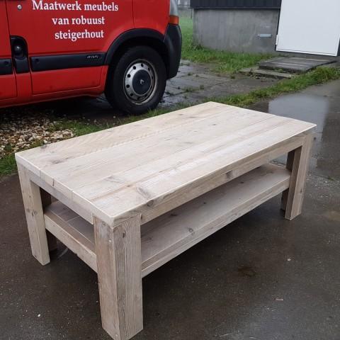 Salontafel van gebruikt steigerhout Frans
