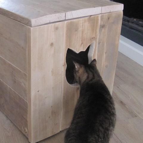 """Kattenbak kast """"Marianne"""""""